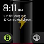 Заставка «батарейка» показывающая уровень аккумулятора для Андройд