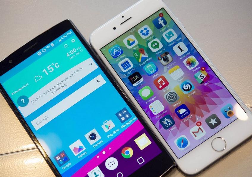 iPhone 6 и LG G4