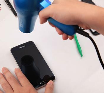 нагреваем экран Samsung Galaxy S5