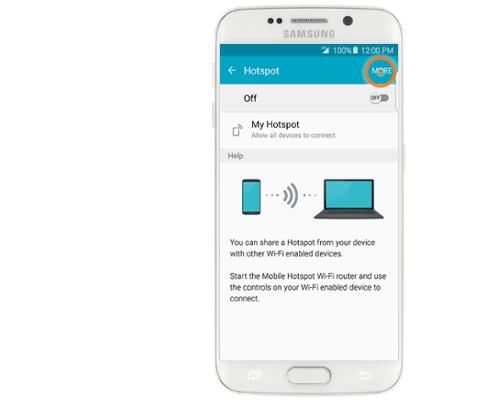 точка доступа Galaxy S6