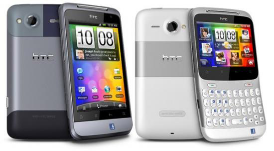 Смартфоны HTC Salsa и HTC Facebook ChaCha