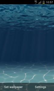 Подводный мир - тема с заставкой для Android(скачать)