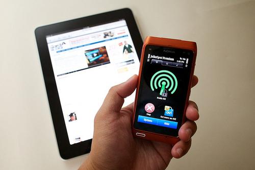 Как сделать на Nokia N8 точку доступа