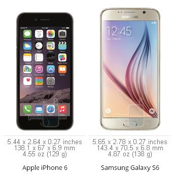 Galaxy S6, iPhone 6