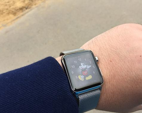 экран apple watch на солнце