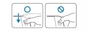 Как оставить отпечатки пальцев