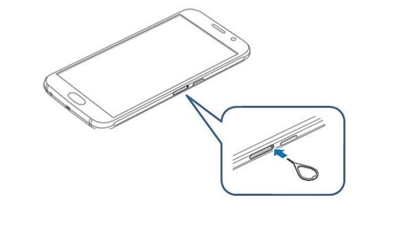 ключ для лотка SIM