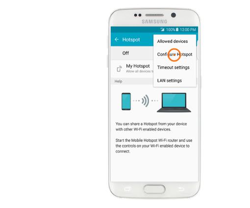 Configure Hotspot Galaxy S6