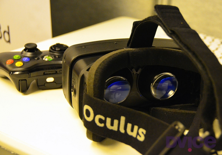 Очки Oculus Rift внутри