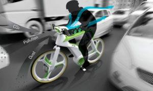 Велосипед с системой фильтрации