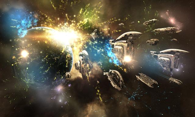 межгалактическая битва в EVE
